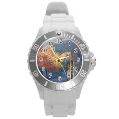 Great Wall Of China 1 Round Plastic Sport Watch (l) by trendistuff
