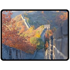 Great Wall Of China 1 Double Sided Fleece Blanket (large)  by trendistuff