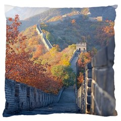 Great Wall Of China 1 Large Flano Cushion Cases (two Sides)  by trendistuff