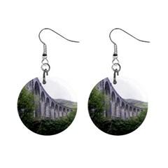 Glenfinnan Viaduct 2 Mini Button Earrings by trendistuff