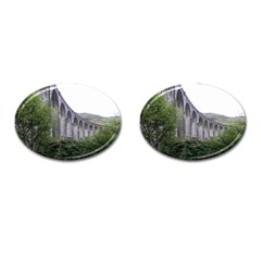 Glenfinnan Viaduct 2 Cufflinks (oval) by trendistuff