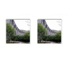 Glenfinnan Viaduct 2 Cufflinks (square) by trendistuff