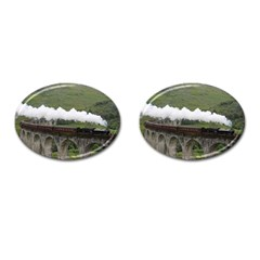 Glenfinnan Viaduct 1 Cufflinks (oval) by trendistuff