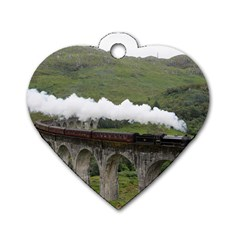 Glenfinnan Viaduct 1 Dog Tag Heart (one Side) by trendistuff