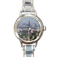 Eiffel Tower 2 Round Italian Charm Watches by trendistuff