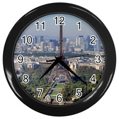 Eiffel Tower 2 Wall Clocks (black) by trendistuff