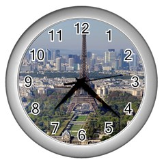 Eiffel Tower 2 Wall Clocks (silver)  by trendistuff