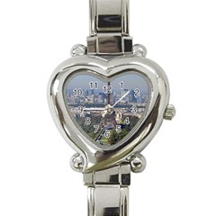 Eiffel Tower 2 Heart Italian Charm Watch by trendistuff