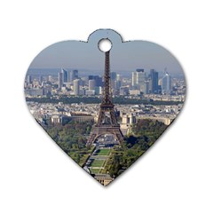 Eiffel Tower 2 Dog Tag Heart (two Sides) by trendistuff