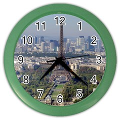 Eiffel Tower 2 Color Wall Clocks by trendistuff