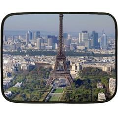 Eiffel Tower 2 Double Sided Fleece Blanket (mini)  by trendistuff