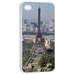 Eiffel Tower 2 Apple Iphone 4/4s Seamless Case (white) by trendistuff