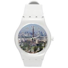 Eiffel Tower 2 Round Plastic Sport Watch (m) by trendistuff
