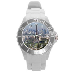 Eiffel Tower 2 Round Plastic Sport Watch (l) by trendistuff