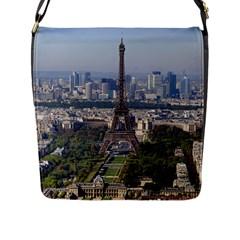 Eiffel Tower 2 Flap Messenger Bag (l)  by trendistuff