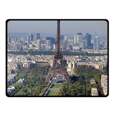 Eiffel Tower 2 Double Sided Fleece Blanket (small)  by trendistuff