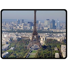 Eiffel Tower 2 Double Sided Fleece Blanket (large)  by trendistuff
