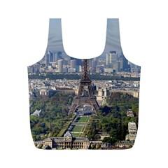 Eiffel Tower 2 Full Print Recycle Bags (m)  by trendistuff