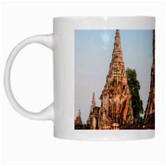 Chaiwatthanaram White Mugs by trendistuff