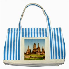 Chaiwatthanaram Striped Blue Tote Bag  by trendistuff