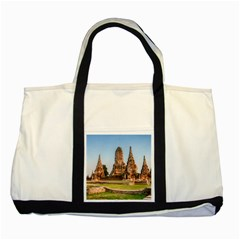 Chaiwatthanaram Two Tone Tote Bag  by trendistuff