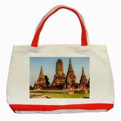 Chaiwatthanaram Classic Tote Bag (red)  by trendistuff