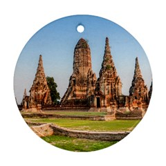 Chaiwatthanaram Round Ornament (two Sides)  by trendistuff