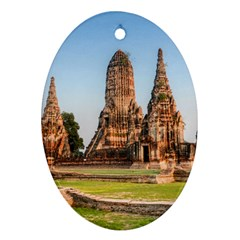 Chaiwatthanaram Oval Ornament (two Sides) by trendistuff