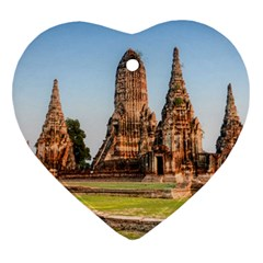 Chaiwatthanaram Heart Ornament (2 Sides) by trendistuff