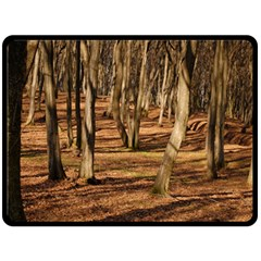 Wood Shadows Double Sided Fleece Blanket (large)  by trendistuff