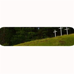Three Crosses On A Hill Large Bar Mats by trendistuff