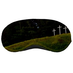 Three Crosses On A Hill Sleeping Masks by trendistuff