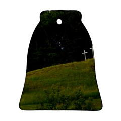 THREE CROSSES ON A HILL Bell Ornament (2 Sides) by trendistuff