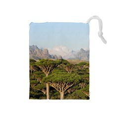 Socotra, Yemen Drawstring Pouches (medium)  by trendistuff