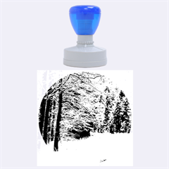 Snow On Road Rubber Round Stamps (large) by trendistuff