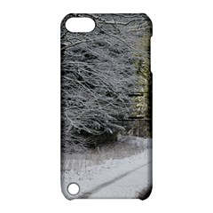 Snow On Road Apple Ipod Touch 5 Hardshell Case With Stand by trendistuff