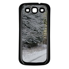Snow On Road Samsung Galaxy S3 Back Case (black) by trendistuff