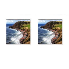 Scotland Crovie Cufflinks (square) by trendistuff