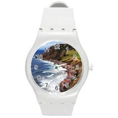 Scotland Crovie Round Plastic Sport Watch (m) by trendistuff