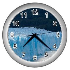 Perito Moreno Glacier Wall Clocks (silver)  by trendistuff