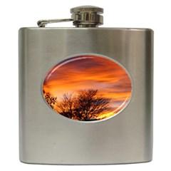 Orange Sunset Hip Flask (6 Oz) by trendistuff