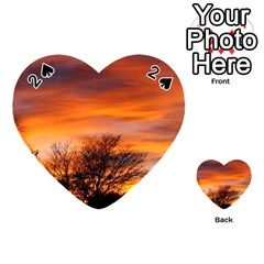 Orange Sunset Playing Cards 54 (heart)