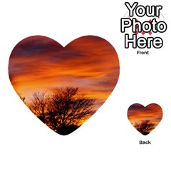 Orange Sunset Multi Purpose Cards (heart)  by trendistuff