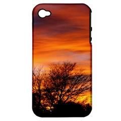 Orange Sunset Apple Iphone 4/4s Hardshell Case (pc+silicone) by trendistuff