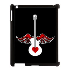 Flying Heart Guitar Apple Ipad 3/4 Case (black) by waywardmuse