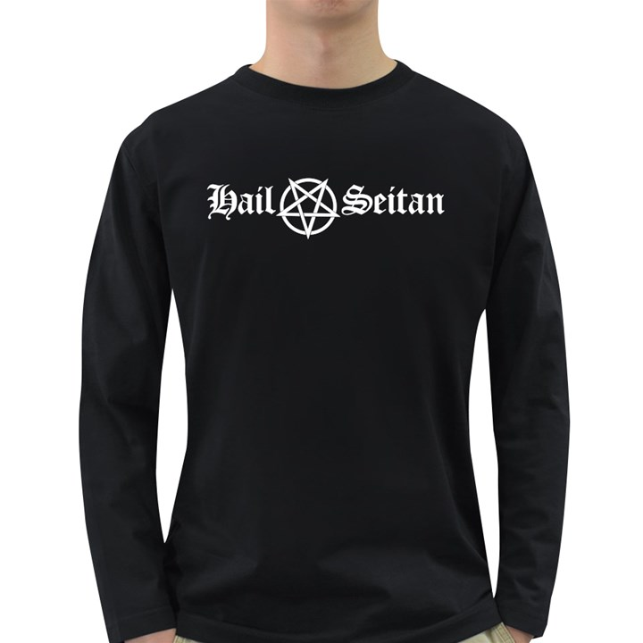 Hail Seitan Long Sleeve Dark T-Shirts
