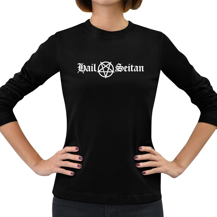Hail Seitan Women s Long Sleeve Dark T-Shirts