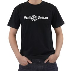 Hail Seitan Men s T Shirt (black)