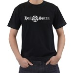 Hail Seitan Men s T-Shirt (Black) Front