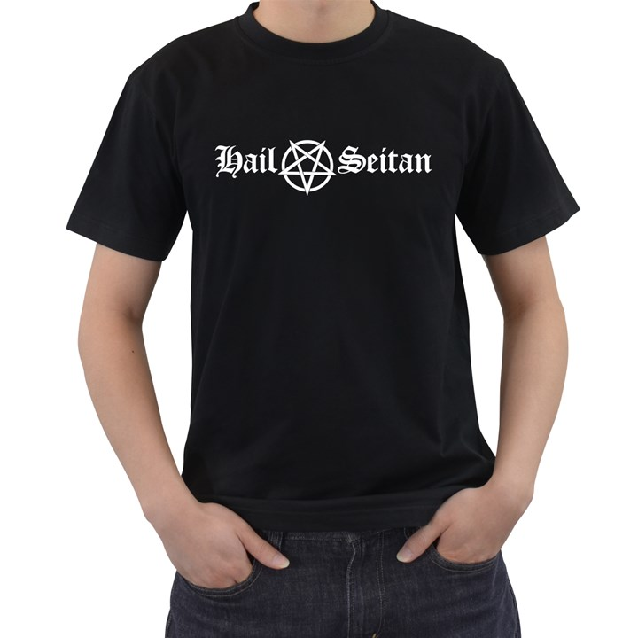Hail Seitan Men s T-Shirt (Black)